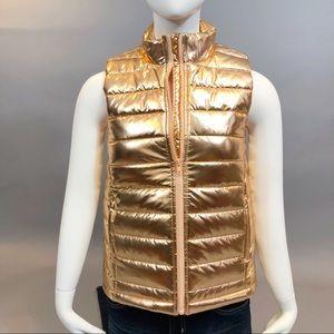 NWOT - Girls Puffer Vest, Shorty Peach
